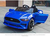 Детский электромобиль Mustang SX 3555, с Кожаным сиденьем, на EVA Резине, синий, Дитячий електромобіль