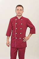 "Костюм кухаря ""Health Life"" батист бордовий 2289, форма для кухарів"