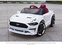 Детский электромобиль Mustang SX 3555, с Кожаным сиденьем, на EVA Резине, белый, Дитячий електромобіль