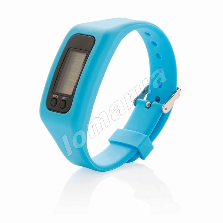 Фитнес браслет часы шагомер счетчик калорий Light Blue