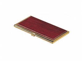 Футляр для визиток металлический Bestar красное дерево 1327WDM
