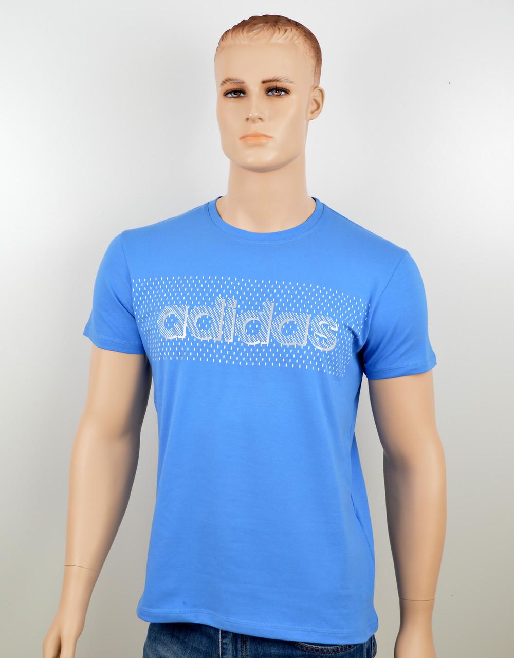 """Мужская футболка """"Adidas 18020"""" св.синий"""