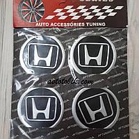 Наклейка эмблема на колпаки Honda 60 мм (4 шт.)