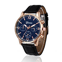 Мужские часы Geneva синий циферблат с черным ремешком e93726d2d0a4c