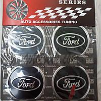 Наклейка эмблема на колпаки Ford 60 мм (4 шт.)