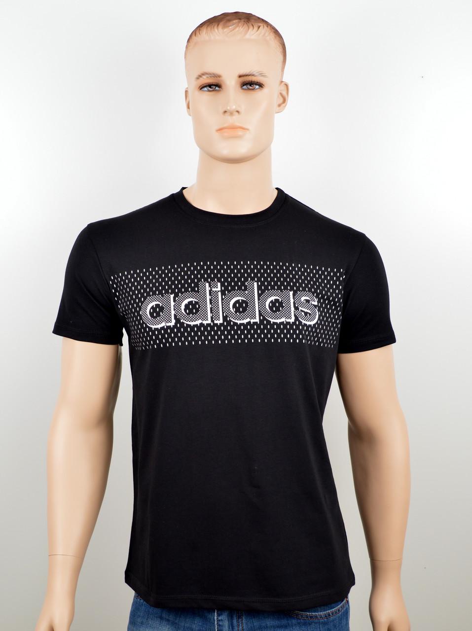 """Мужская футболка """"Adidas 18020"""" черный"""