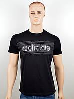 """Мужская футболка """"Adidas 18020"""" черный, фото 1"""