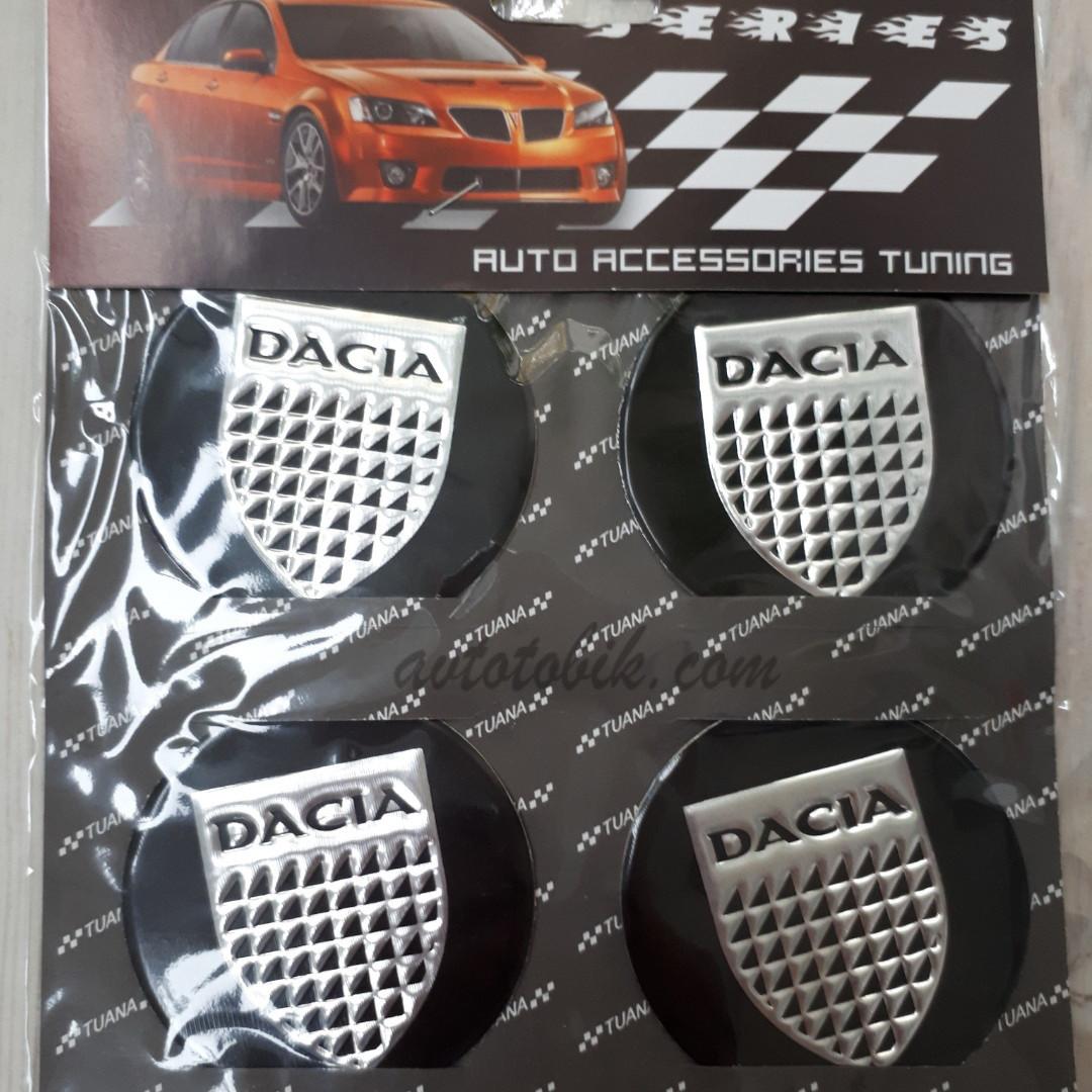 Наклейка эмблема на колпаки Dacia 60 мм (4 шт.)