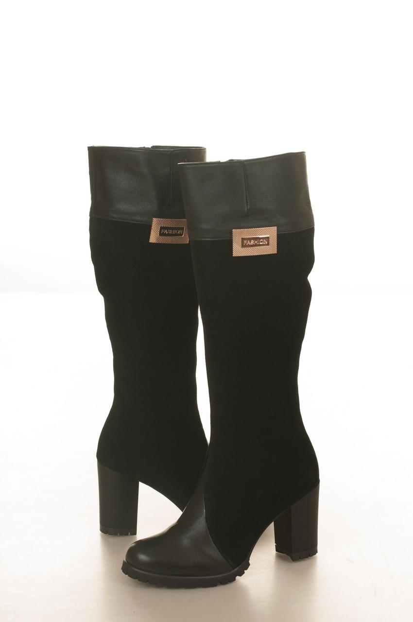 Сапоги высокие на высоком каблуке, из натуральной кожи, на молнии. Два цвета! Размеры 36-41 модель S2832