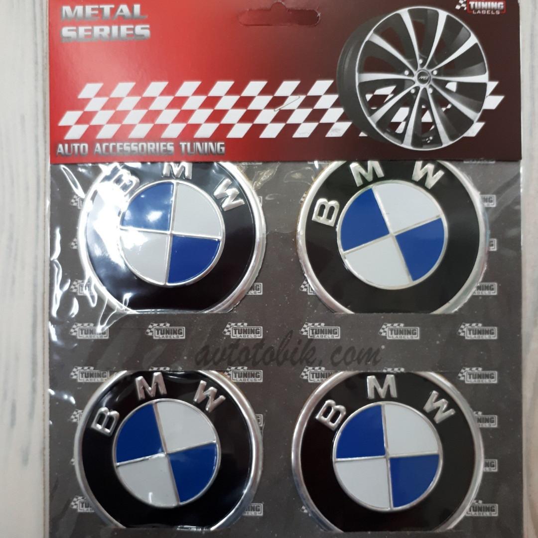 Наклейка эмблема на колпаки BMW 60 мм (4 шт.)
