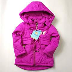 Куртка детская демисезонная для девочек фиолетовый 86р-110р 3804