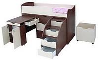 """Кровать-чердак""""Малыш"""" 160х70 см. h=110 см.,Цвета разные"""
