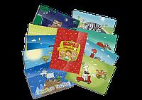 Настольная игра (аксессуары) Набор из 5 открыток + 6 наклеек