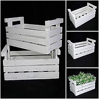 Ящик из дерева, ручная работа, 21х40х20 см., 230/200 (цена за 1 шт. + 30 гр.)