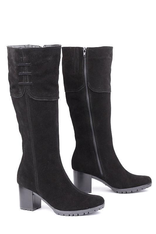 Сапоги высокие на каблуке, из натуральной кожи, лака на молнии. Четыре цвета! Размеры 36-41 модель S2611