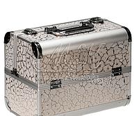 """Профессиональный алюминиевый кейс для косметики """"Exclusive Series"""" серебристое сияние , фото 1"""