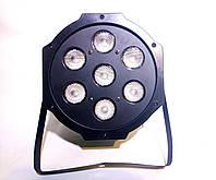 Світлодіодний прожектор LED Par 7x10 DMX святкове освітлення, світломузика, стробоскоп