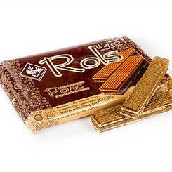 """Вафлі """"Rols"""" з шоколадним смаком 100 гр"""