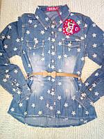 Джинсовая рубашка для девочек S&D 8-16 лет