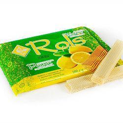 "Вафли ""Rols"" с ароматом лимона 100 гр"