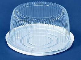 Одноразовая пластиковая упаковка для тортов, ПС-24, (V3500мл), 50 шт/пач