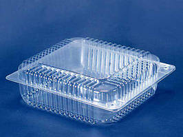 Одноразовая пластиковая упаковка для тортов, ПС-55, 3300мл