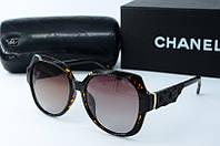 Солнцезащитные очки Chanel квадратные коричневые, фото 1