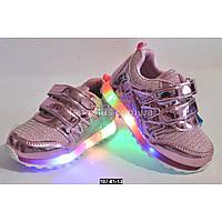 Светящиеся LED кроссовки для девочки, 23 размер, с мигалками, супинатор