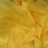 Тюль шифон желтый яркий