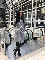 Пальто демисезонное цвет серый
