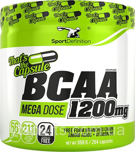 SPORTDEFINITION BCAA 1200mg That's The Capsule 264 caps