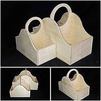 Декоративный ящик из дерева и фанеры, для творчества, 26х30х16 см., 190/160 (цена за 1 шт. + 30 гр)