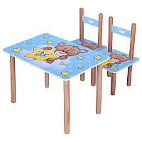 Столик +2 стульчика, в кор-ке, 60-40 см Мишка