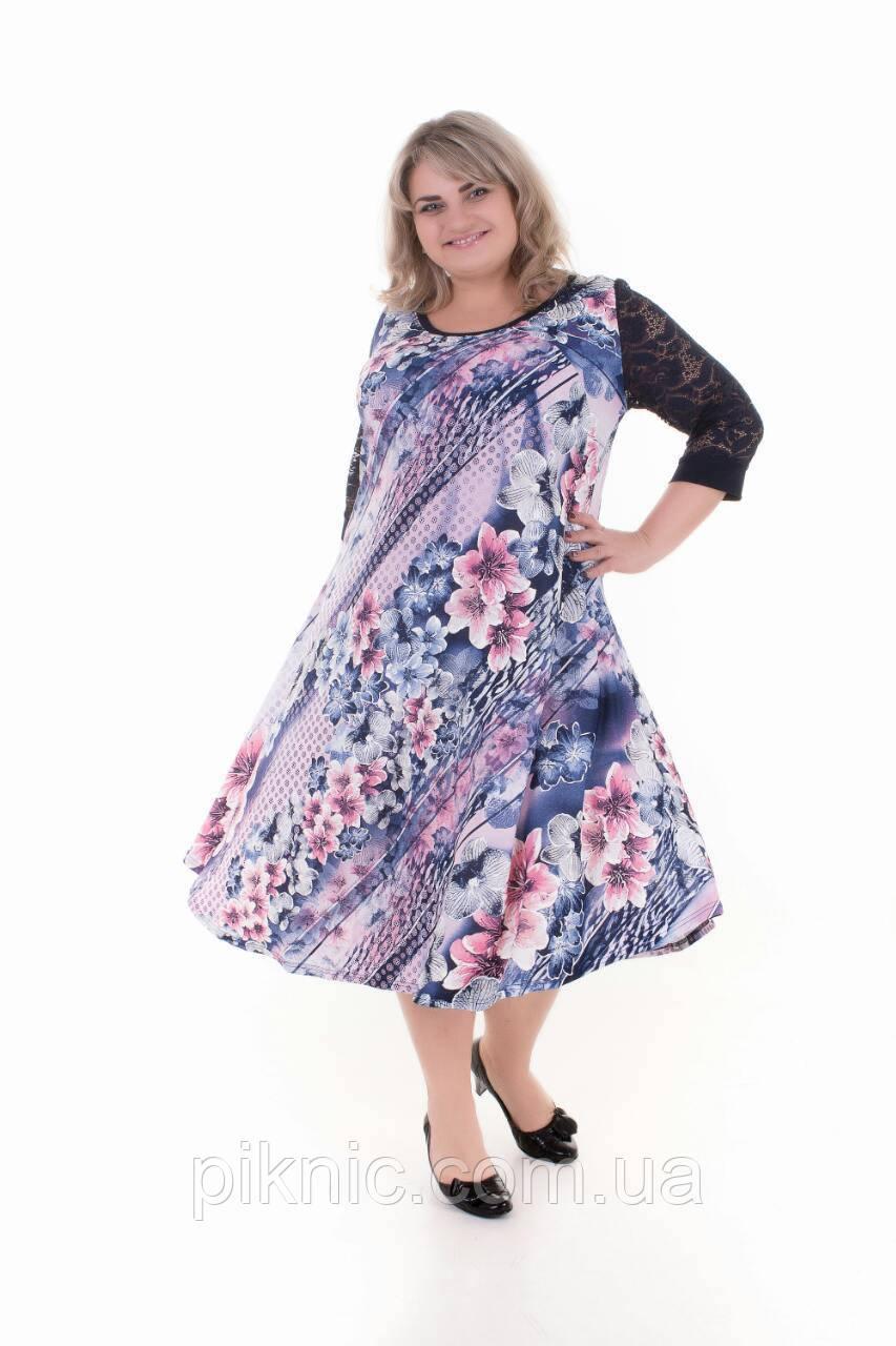 Платье Надежда батал 60, 62, 64, 66. Женское платье большой размер. №1
