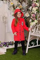 Пальто детское кашемировое  весна-осень для девочки р122-146 см