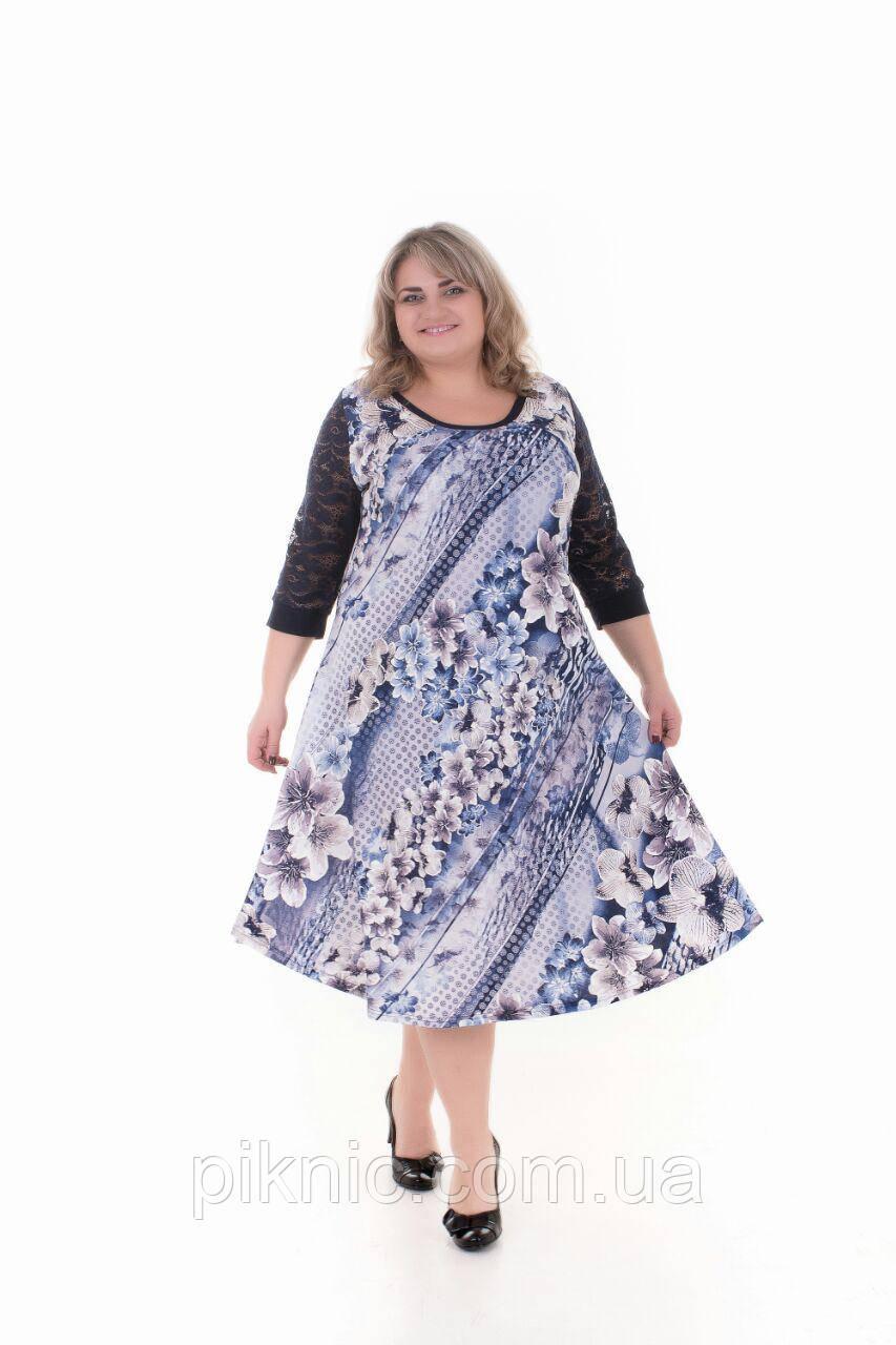 Платье Надежда батал 60, 62, 64, 66. Женское платье большой размер.№2
