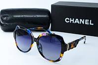 Солнцезащитные очки Chanel квадратные синие, фото 1