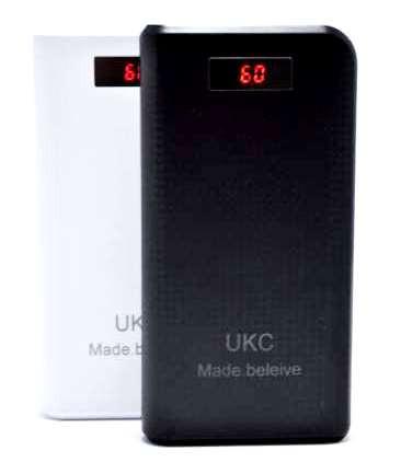Power Bank UKC 30800mAh з дисплеєм 2 USB портативний зовнішній акумулятор