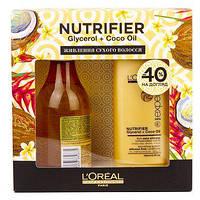Набор шампунь 300мл +бальзам 200мл для питания сухих волос Expert Nutrifier L'Oreal Professionnal*