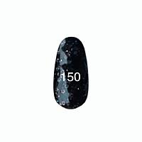 Гель-лак №150 Kodi 7 мл (черный с крупной и мелкой слюдой)*
