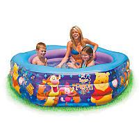 """Детский надувной бассейн большой шестигранный """"Винни Пух"""", 191 х 178 х 61 см, 541 л, intex 57494"""