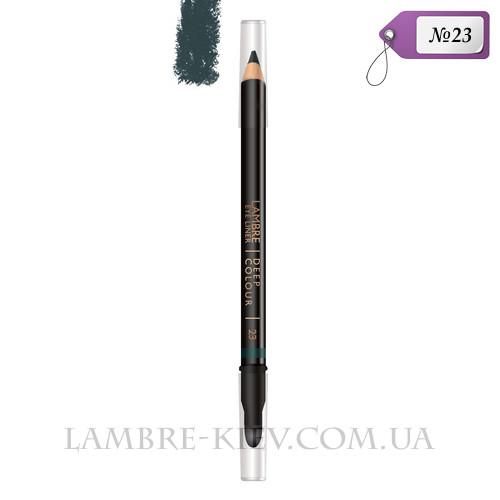 Карандаш для глаз с растушевкой Deep Colour №23 (лесная зелень) Ламбре / Lambre