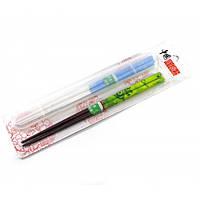Палочки для еды бамбук (2 пары + футляр) (28,5х7,5х1,5 см) ( 30781)