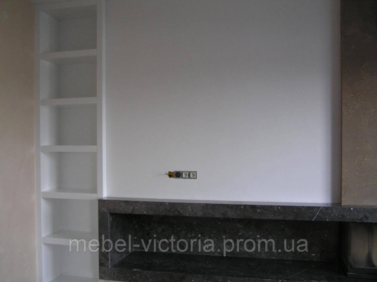 Шкаф из камня белого цвета