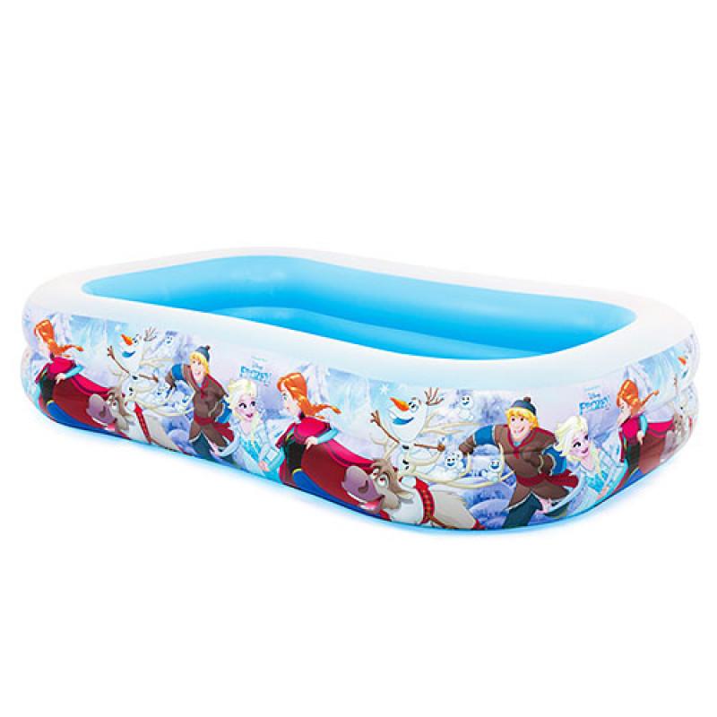 """Надувной бассейн прямоугольный большой для всей семьи """"Фроузен"""", 262 х 175 х 56 см, 2 кольца, intex 58469"""