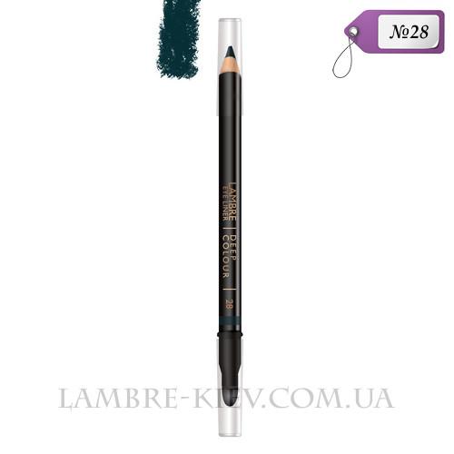 Карандаш для глаз с растушевкой Deep Colour №28 (морской) Ламбре / Lambre