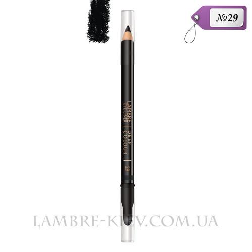 Карандаш для глаз с растушевкой Deep Colour №29 (звездный черный) Ламбре / Lambre