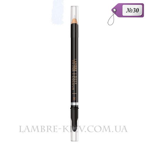 Карандаш для глаз с растушевкой Deep Colour №30 (белый) Ламбре / Lambre