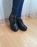 Туфли на платформе, натуральная кожа