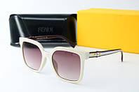 Солнцезащитные очки Fendi квадратные белые, фото 1